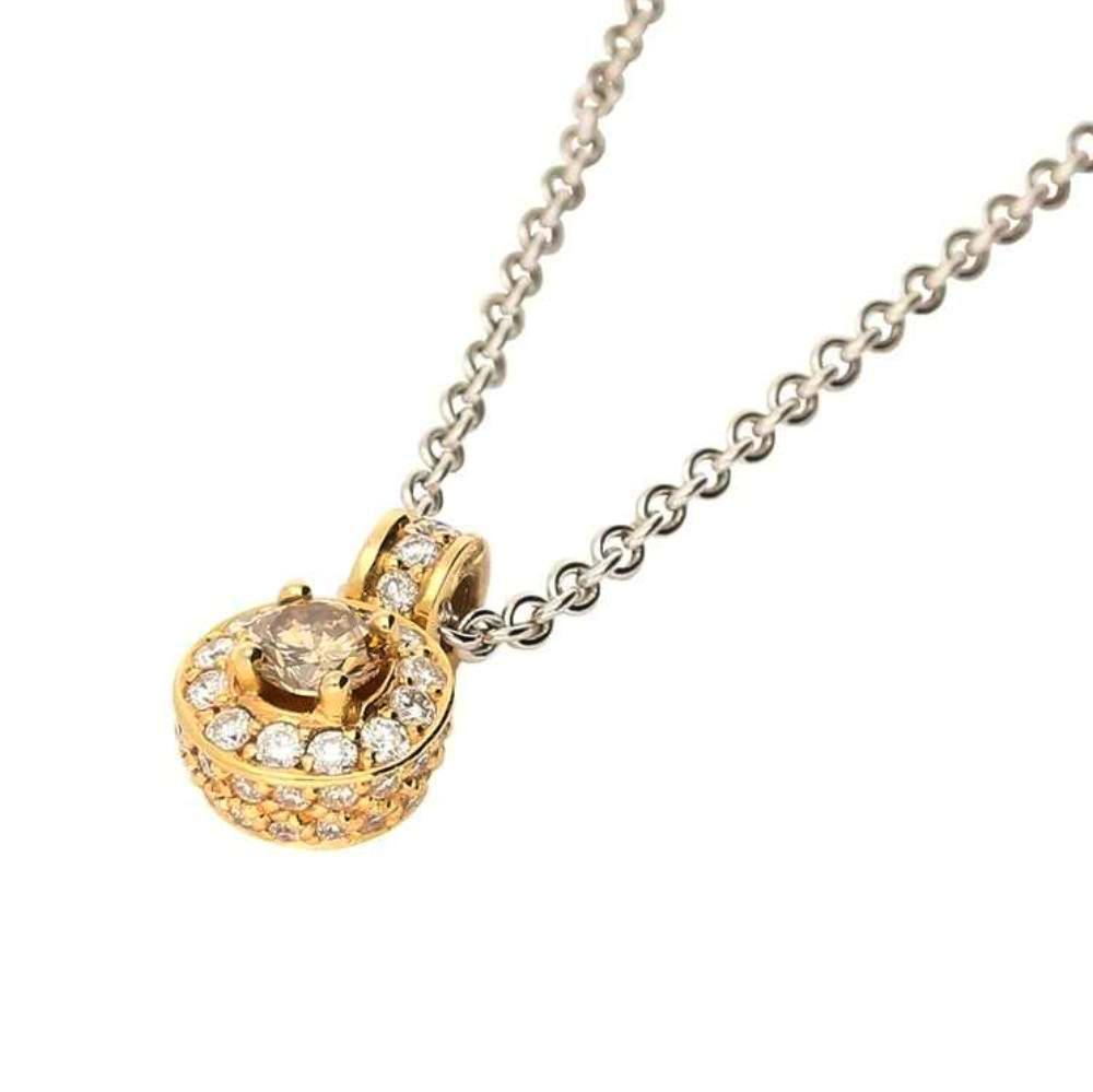 Rock Lobster Pendant 18ct rose gold pendant set with a brown diamond and white diamond halo