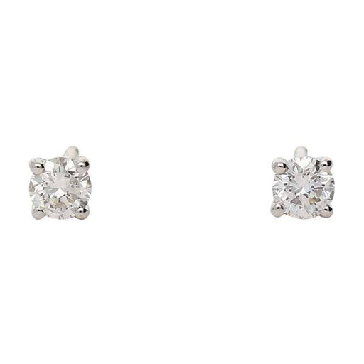 Rock Lobster Earrings 18ct white gold 0.41ct diamond four claw stud earrings