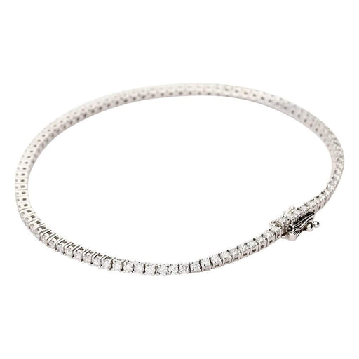 Rock Lobster Bracelet 18ct white gold 2.00ct diamond line bracelet