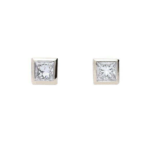 Rock Lobster Earrings 18ct white gold princess cut diamond earrings