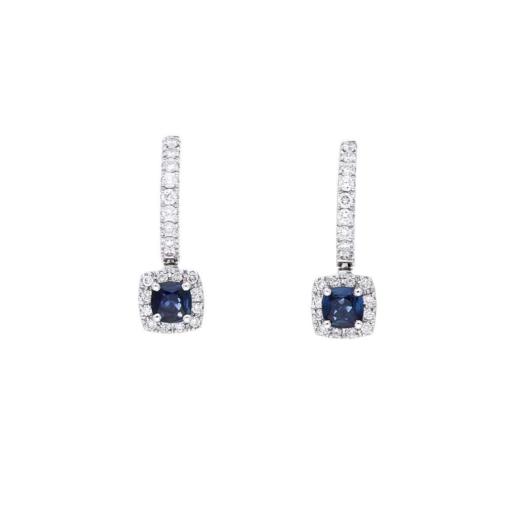 Rock Lobster Earrings 18ct white gold sapphire and diamond hoop earrings