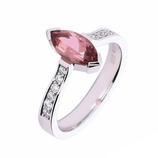 Rock Lobster Ring 18ct white gold tourmaline diamond ring