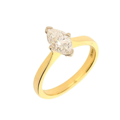 Rock Lobster Ring 18ct yellow gold 1.02ct marquise diamond ring