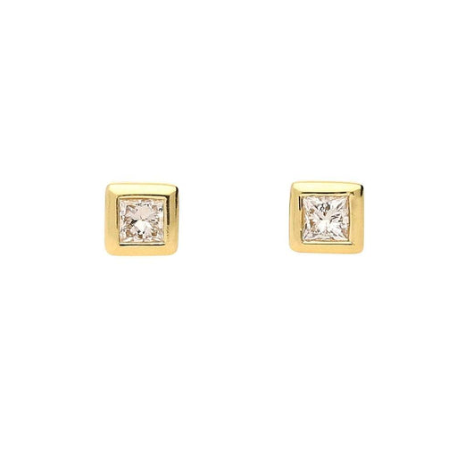 Rock Lobster Earrings 18ct yellow gold and princess cut diamond earrings