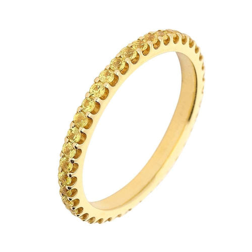 Rock Lobster Ring 18ct yellow gold and yellow sapphire full eternity ring