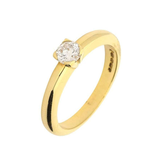 Rock Lobster Ring 18ct yellow gold brilliant cut 0.35ct diamond ring