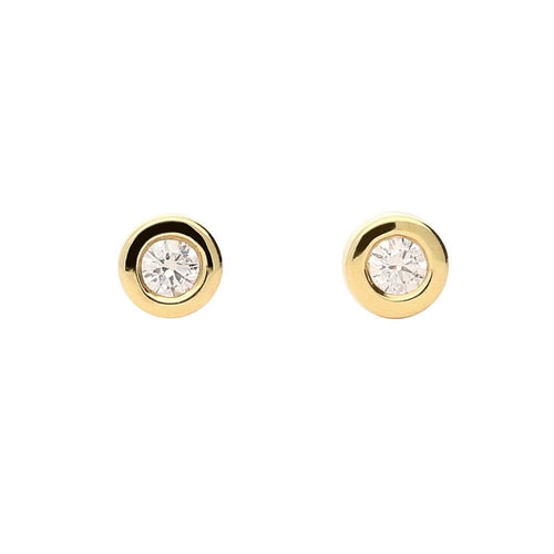 Rock Lobster Earrings 18ct yellow gold brilliant cut diamond earrings