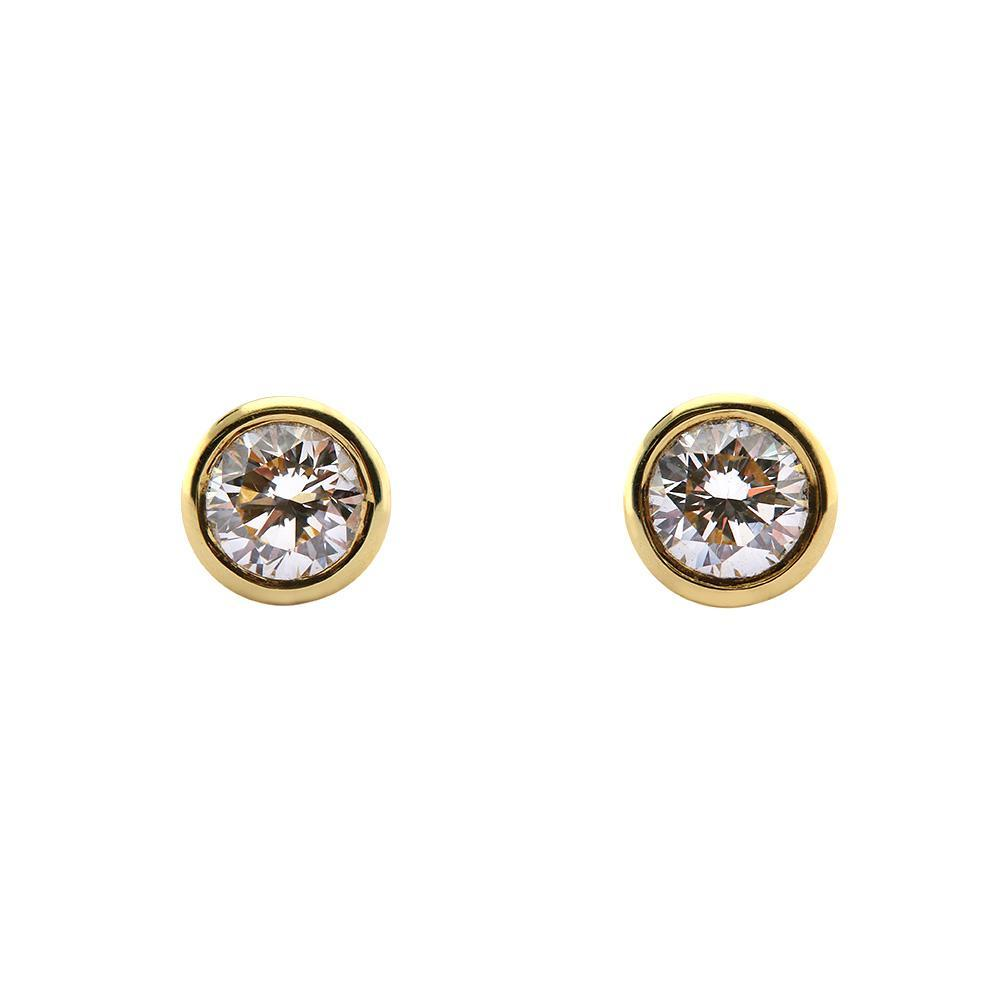 Rock Lobster Earrings 18ct yellow gold brilliant cut diamond stud earrings