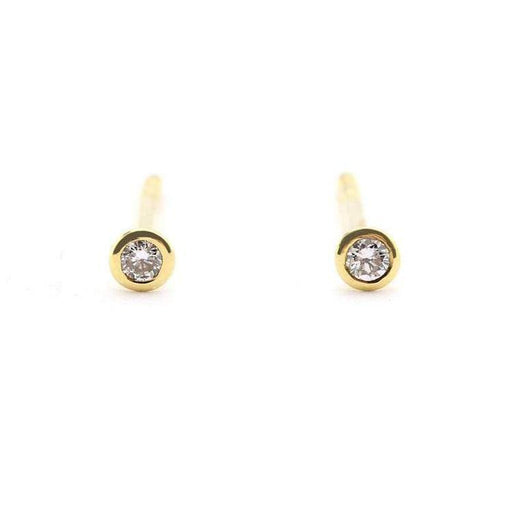 Rock Lobster Earrings 18ct yellow gold diamond pin stud earrings