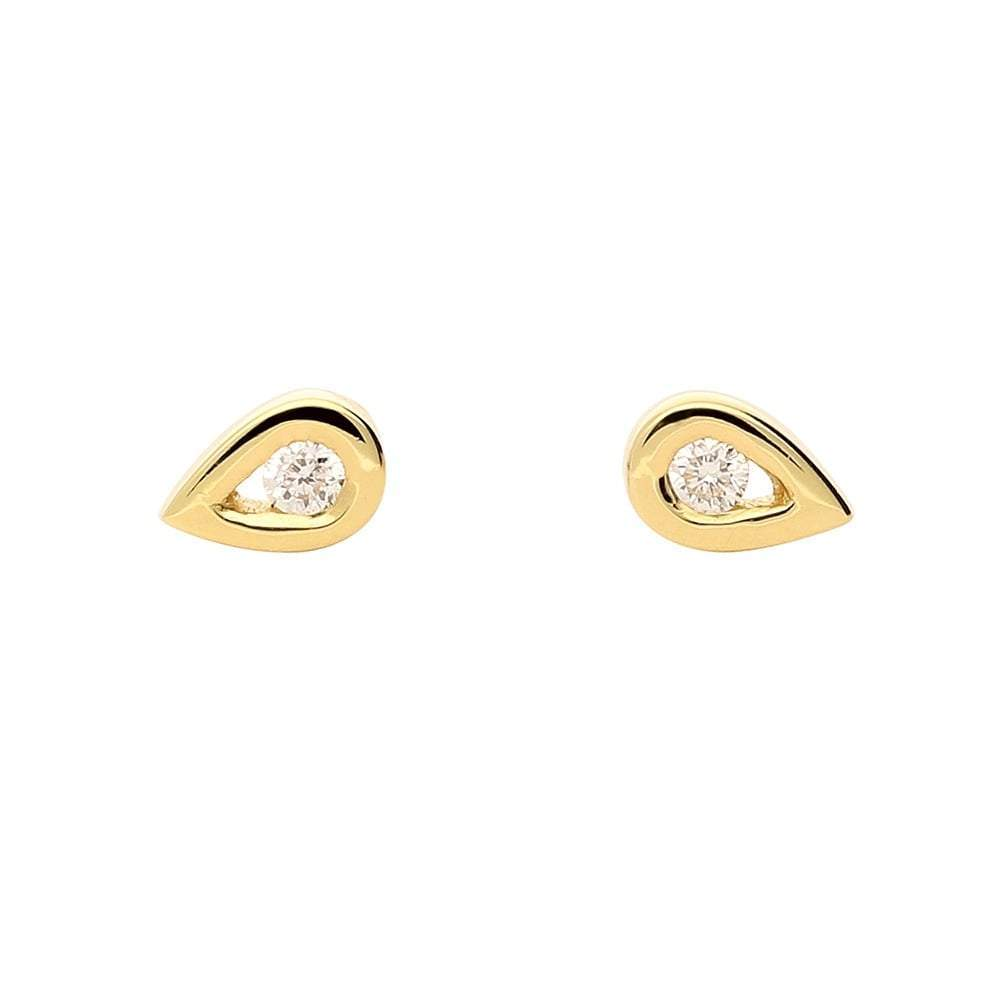 Rock Lobster Earrings 18ct yellow gold diamond teardrop earrings