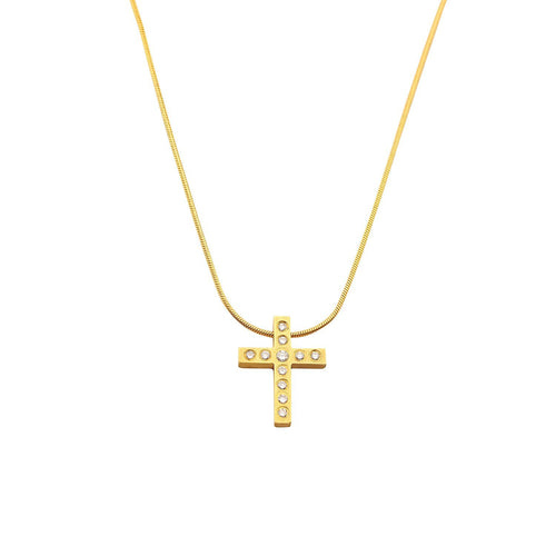Rock Lobster Pendant 18ct yellow gold eleven brilliant cut diamond cross