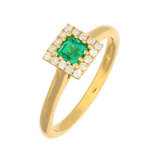 Rock Lobster Ring 18ct Yellow Gold  Emerald and Diamond  ring