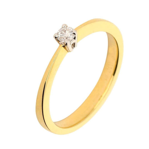 Rock Lobster Ring 18ct yellow gold four claw diamond ring