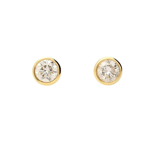 Rock Lobster Earrings 18ct yellow gold rubover 0.25 brilliant cut diamond earrings