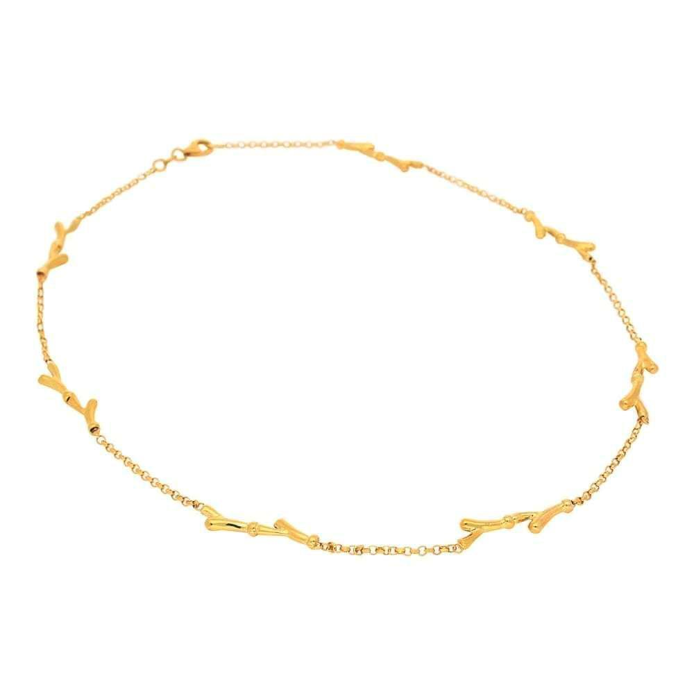 Rock Lobster Necklace 9ct gold organic chain necklace