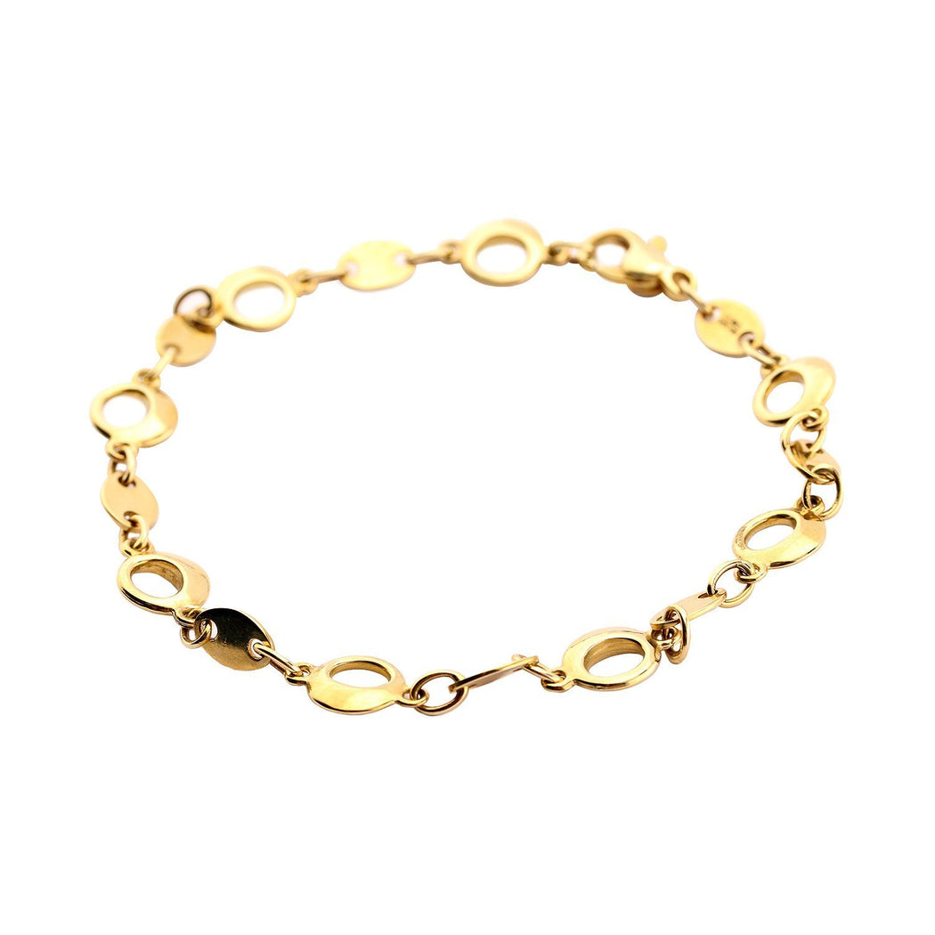 Rock Lobster Bracelet 9ct yellow gold hoops link bracelet