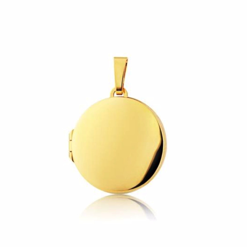 Rock Lobster Locket 9ct yellow gold round locket