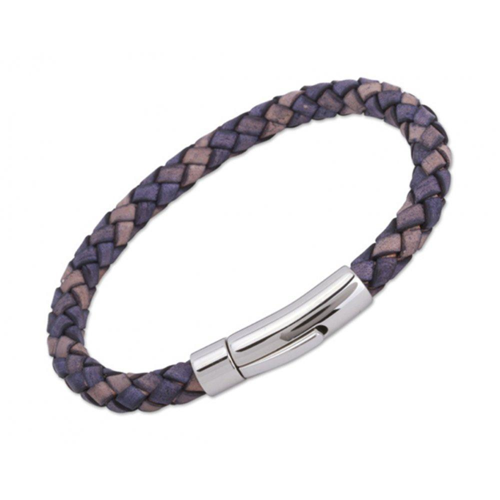 Rock Lobster Bracelet Antique blue leather 21cm bracelet