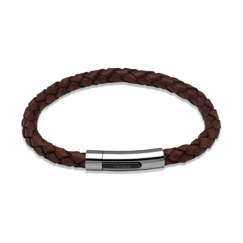 Rock Lobster Bracelet Brown tan leather bracelet with detail steel clasp