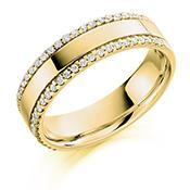 Load image into Gallery viewer, Rock Lobster Ring Diamond 0.26ct edged 1/2 eternity band