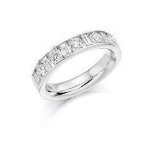 Rock Lobster Ring Diamond 1.50ct mixed cut half eternity ring