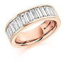 Load image into Gallery viewer, Rock Lobster Ring Diamond 2.00ct baguette cut half eternity ring