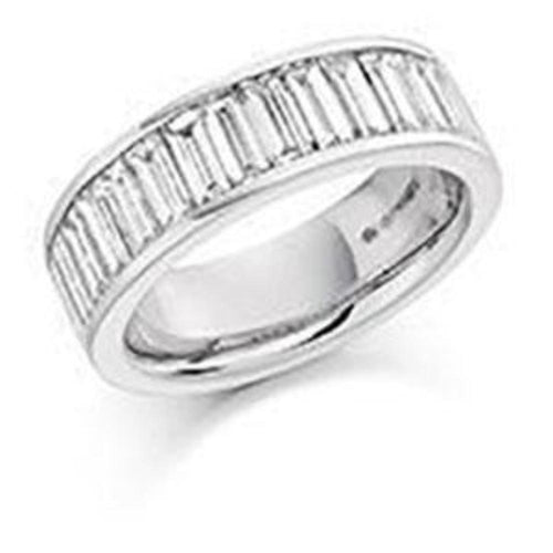 Rock Lobster Ring Diamond 2.00ct baguette cut half eternity ring