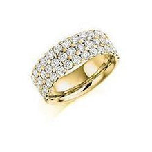 Load image into Gallery viewer, Rock Lobster Ring Diamond 2.25ct brilliant cut half eternity ring