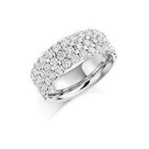 Rock Lobster Ring Diamond 2.25ct brilliant cut half eternity ring