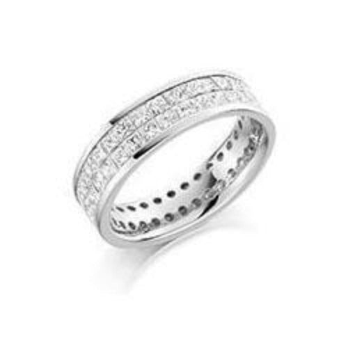 Rock Lobster Ring Diamond 3.15ct princess cut full eternity ring