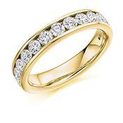 Rock Lobster Ring Diamond channel set brilliant 1.0ct 1/2 eternity band