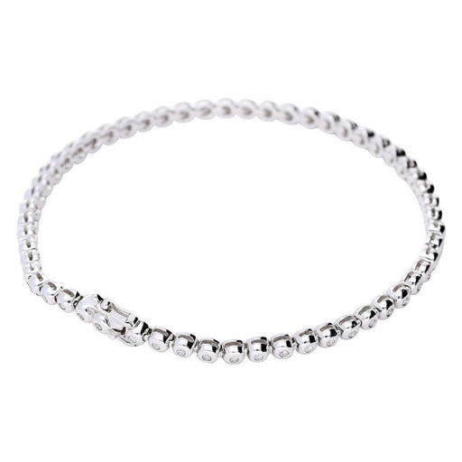 Rock Lobster Bracelet Diana 18ct white gold diamond line bracelet
