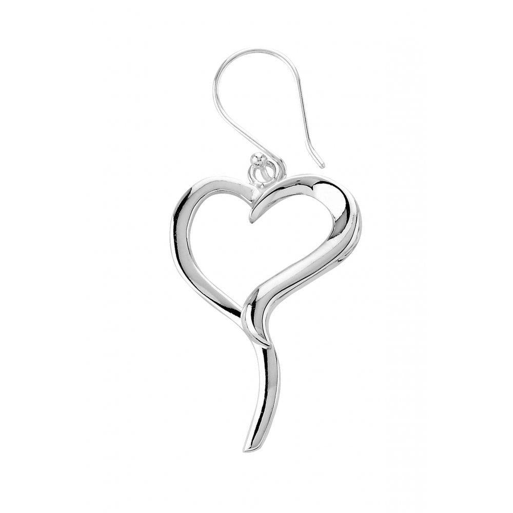 Rock Lobster Earrings Elegant silver open heart hooks