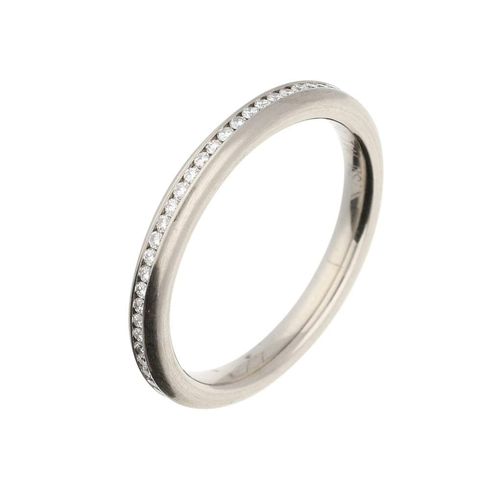 Rock Lobster Jewellery Ring 18ct white gold 0.25ct diamond full eternity ring