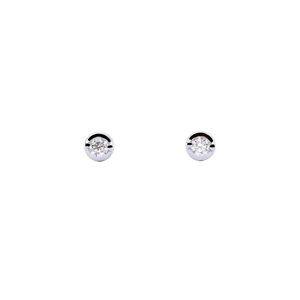 Rock Lobster Jewellery Earrings 18ct white gold cup set 0.10ct diamond stud earrings