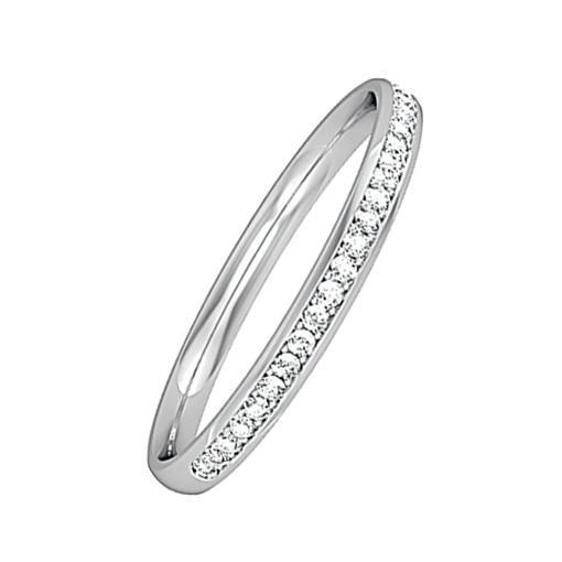 Rock Lobster Jewellery Ring 18ct white gold diamond 0.09ct half eternity ring
