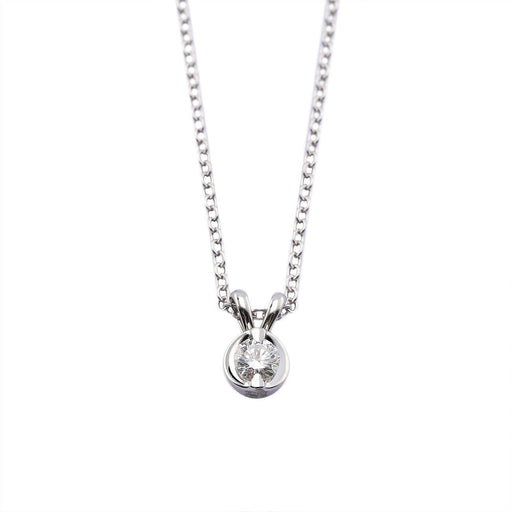 Rock Lobster Jewellery Pendant 18ct white gold diamond round pendant