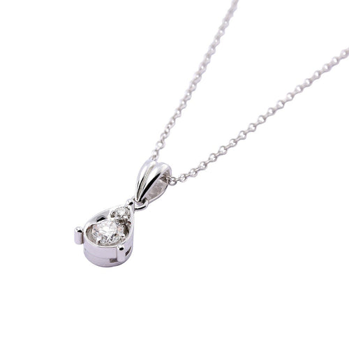 Rock Lobster Jewellery Pendant 18ct white gold diamond teardrop pendant