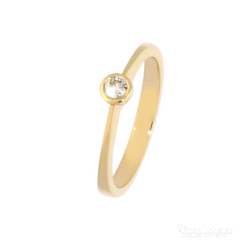 Rock Lobster Jewellery Ring 18ct yellow gold 0.10ct diamond ring