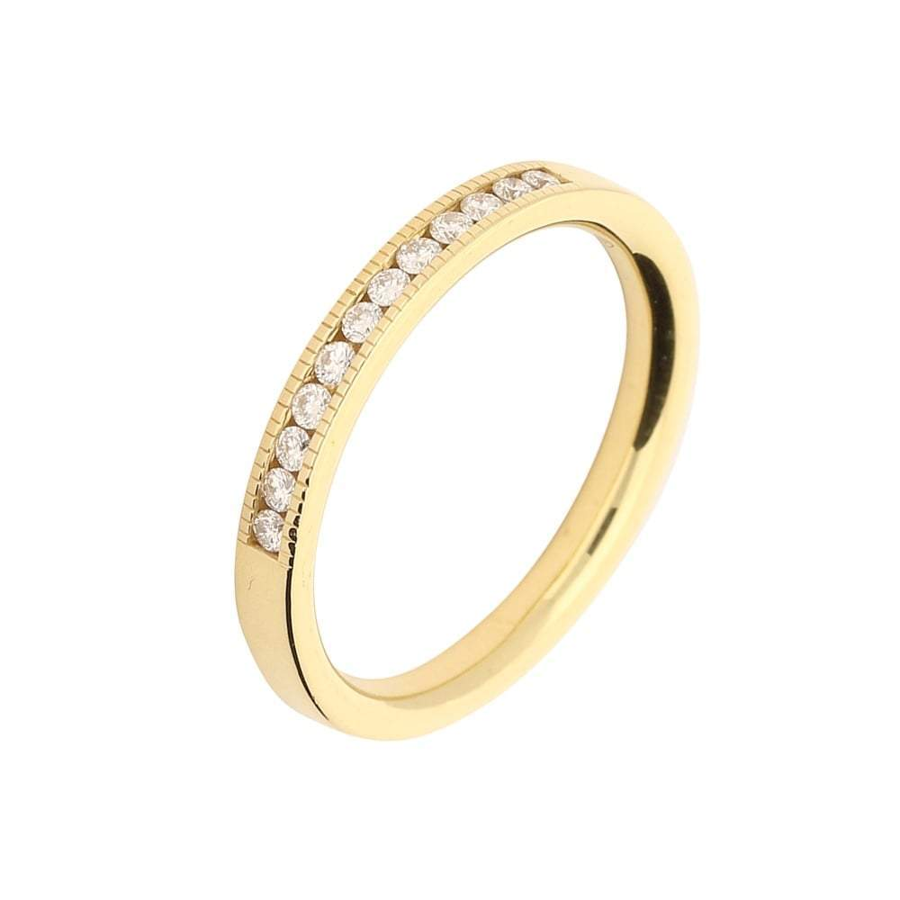 Rock Lobster Jewellery Ring 18ct yellow gold 0.20ct diamond grain set ring