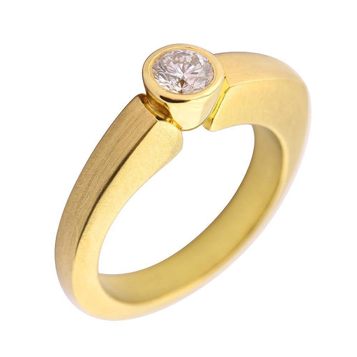 Rock Lobster Jewellery Ring 18ct yellow gold 0.35ct diamond flashlight ring