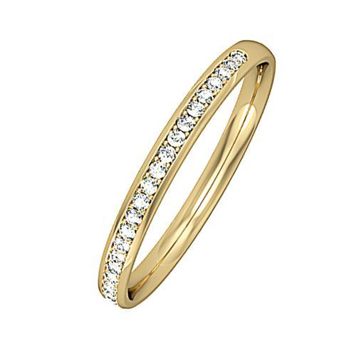 Rock Lobster Jewellery Ring 18ct yellow gold diamond 0.09ct half eternity ring