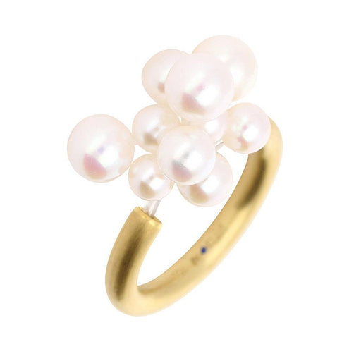 Rock Lobster Jewellery Ring 18ct yellow gold white pearl cloud ring