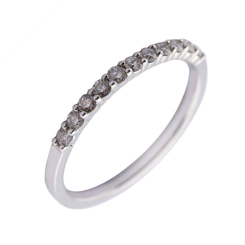 Rock Lobster Jewellery Ring 9ct white gold diamond half eternity ring
