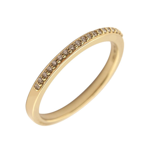 Rock Lobster Jewellery Ring 9ct yellow gold diamond half eternity ring