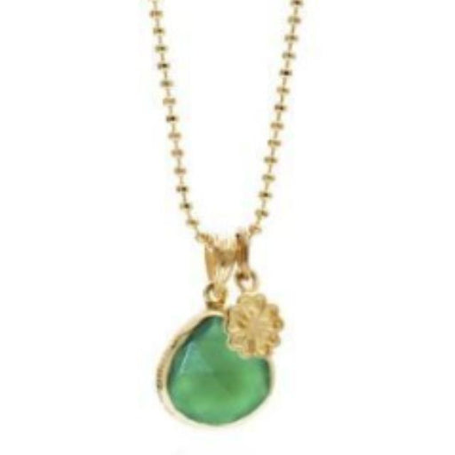 Rock Lobster Jewellery Pendant Azuni gold green onyx Demeter pendant