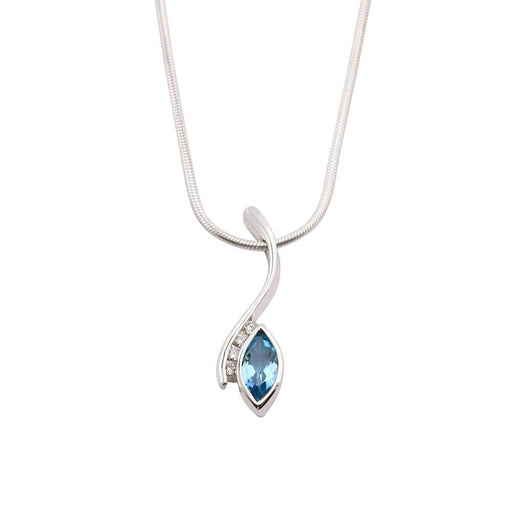 Rock Lobster Jewellery Pendant Church House Silver blue topaz diamond marquise pendant