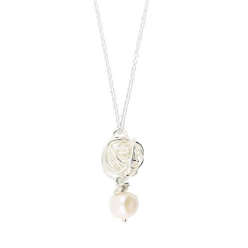 Rock Lobster Jewellery Pendant Clarity Silver Pearl wirework nest pendant