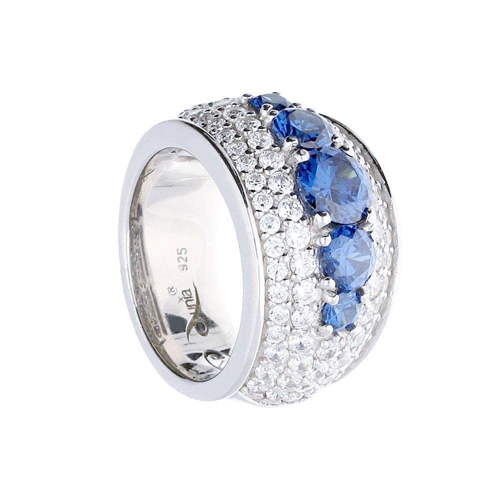 Rock Lobster Jewellery Ring Dunia Silver blue/white CZ ring
