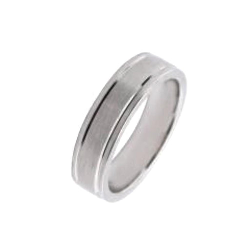 Rock Lobster Jewellery Ring Furrer Jacot 18ct white gold grooved edged band